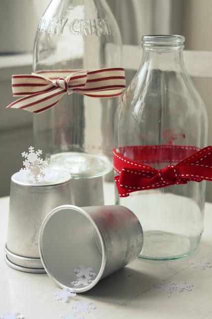 Milk Bottles Christmas Decoration
