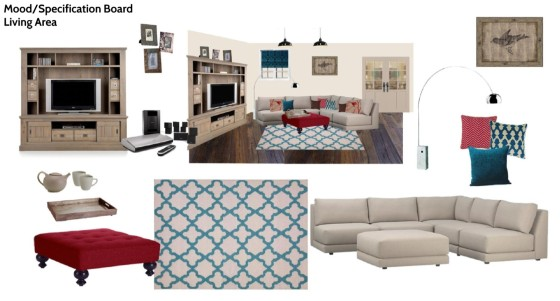 Rhythm grace interiors e decorating for Modern living room mood board