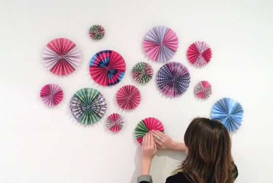 Rosettes on wall
