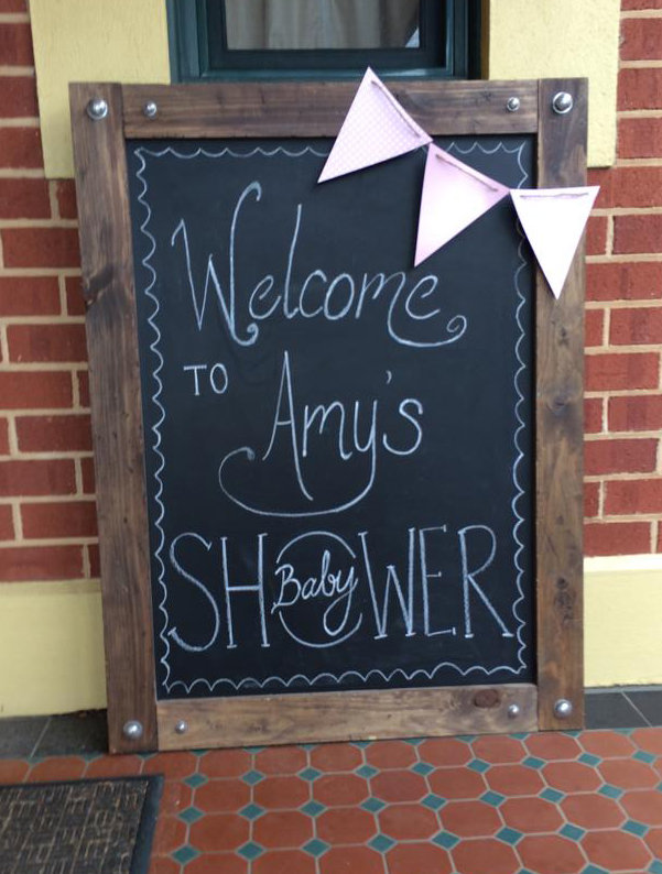 Baby Shower Welcome Chalkboard Art